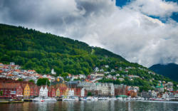 Bryggen and Bergen. Hordaland, Norway. Photo: www.fjords.com