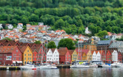 Bryggen and Bergen. Hordaland, Norway. Photo: www.fjords.com