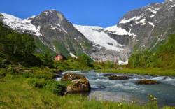 Bøyabreen in Fjærland in Sogn
