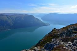 View from Mt. Molden towards Urnes and the Lustrafjord