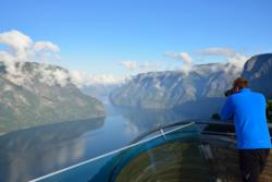 Stegastein Lookout above the Aurlandsfjord