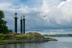 Swords in Rock by Hafrsfjord. Sola in Rogaland, Norway. Photo: www.fjords.com