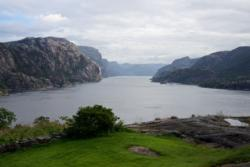 View inwards from the outer part of the Lysefjord.
