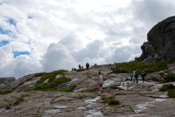 The hike towards Preikestolen, close to the summit.