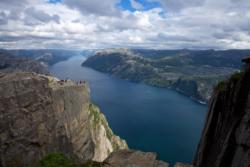 Preikestolen (The Pulpit Rock and the Lysefjord.