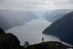 The Lysefjord.