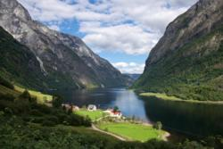 From the lower part of the Rimstigen Trail. View towards the Nærøyfjord.