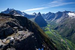 Romsdalen Valley seen from Romsdalseggen.