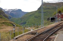 Rallarvegen. Myrdal Train Station.