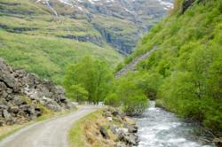 Cycling the Flåmsdalen Valley.