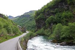 Cycling the Flåmsdalen Valley.