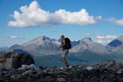 Romsdalseggen Ridge. Mt. Klauva and Kirketaket in the Background.
