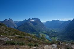 Romsdalseggen in Romsdal. From Mt. Nesaksla before the descent down Romsdalstrappa.