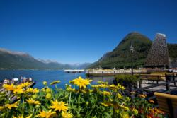 Åndalsnes Harbour, down by the Romsdalsfjord.