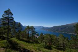 Romsdalseggen in Romsdal. From the descent down towards Åndalsnes.