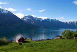 Solheim Gard by the Lustrafjord