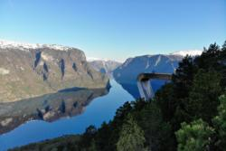 Stegastein Utkikkspunkt i Aurland med utsikt over Aurlandsfjorden
