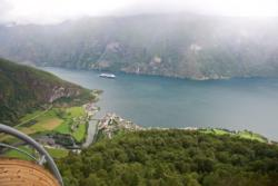 Stegastein Viewpoint in Aurland, Norway.