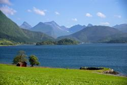 The Rødvenfjord seen from Holmemstranda. Photo: www.fjords.com