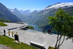 View from Ørnesvingen Viewpoint towards the Geirangerfjord and Geiranger.