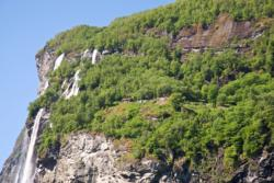 The Seven Sisters Waterfall and Knivsflå Mountain farm.