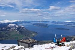 Skiing to Mt Tarløysa in Romsdal