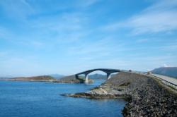 The Atlantic Road and Storseisundbrua Bridge towards north.