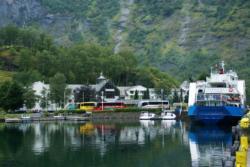 Flåm by the Aurlandsfjord