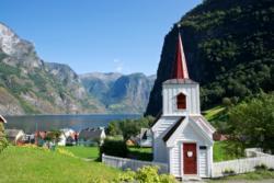 Undredal Stavkirke i Undredal ved Aurlandsfjorden