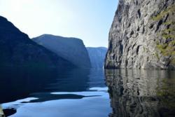 Kajakk i Aurlandsfjorden utenfor Undredal