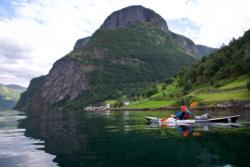 Kayaking towards Undredal