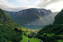 Undredal seen from the Undredalsdalen Valley