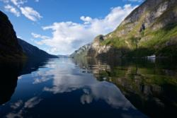 The Aurlandsfjord outside Undredal
