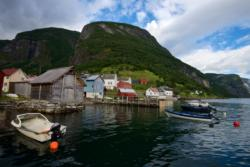 Undredal by the Aurlandsfjord