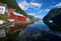 Undredal ved Aurlandsfjorden