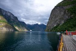 Undredal Brygge by the Aurlandsfjord