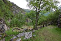 Vindhellavegen at Borgund, Lærdal.