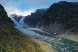 Austerdalsbreen Glacier in Veitastrond