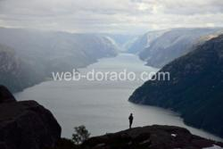 The Lysefjord in Ryfylke. Rogaland, Norway
