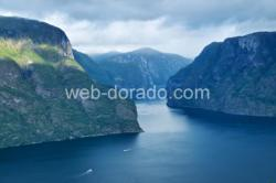 The Aurlandsfjord in Sogn.