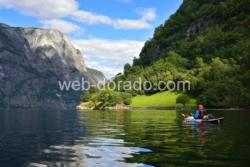 Kayaking in the Nærøyfjord